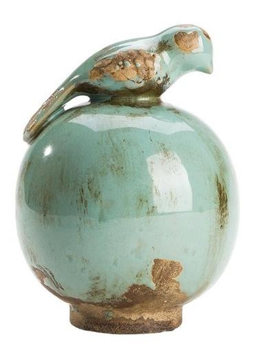 Kuş Figürlü Seramik Küçük Dekoratif Obje-Warm Design